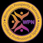 WPN Business of Speaking certified speaker badge