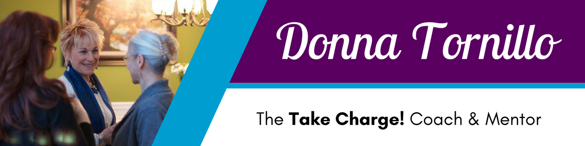 Donna Tornillo Take Charge Coach Website Header